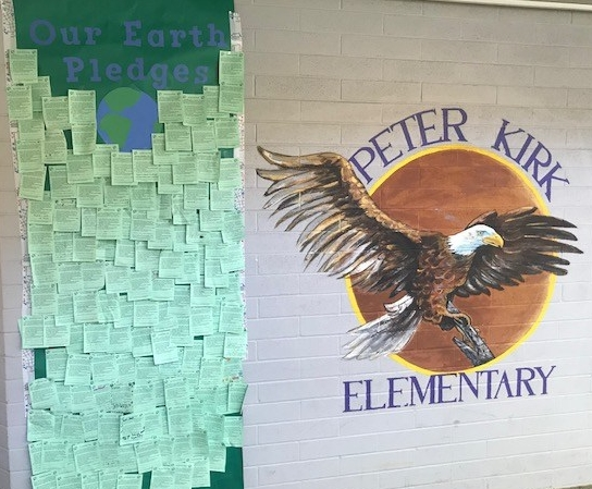 PKES Earth Week pledge wall